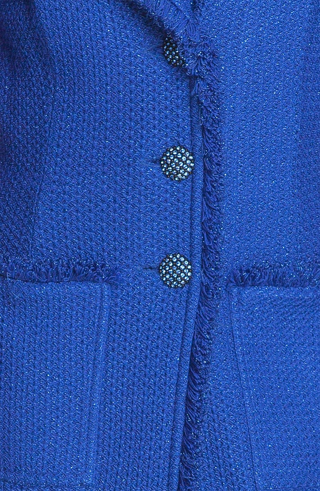 Alternate Image 3  - St. John Collection Long Fringe Trim Tweed Coat