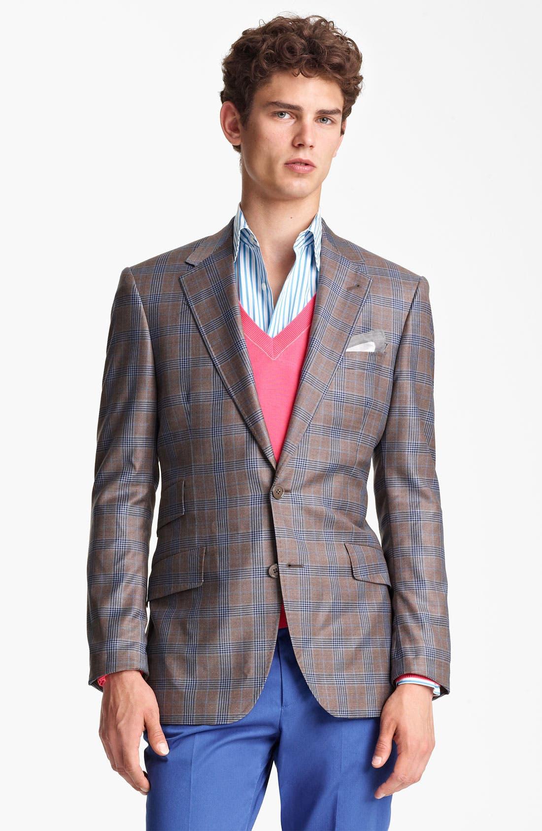 Alternate Image 1 Selected - Paul Smith London Plaid Wool Sportcoat