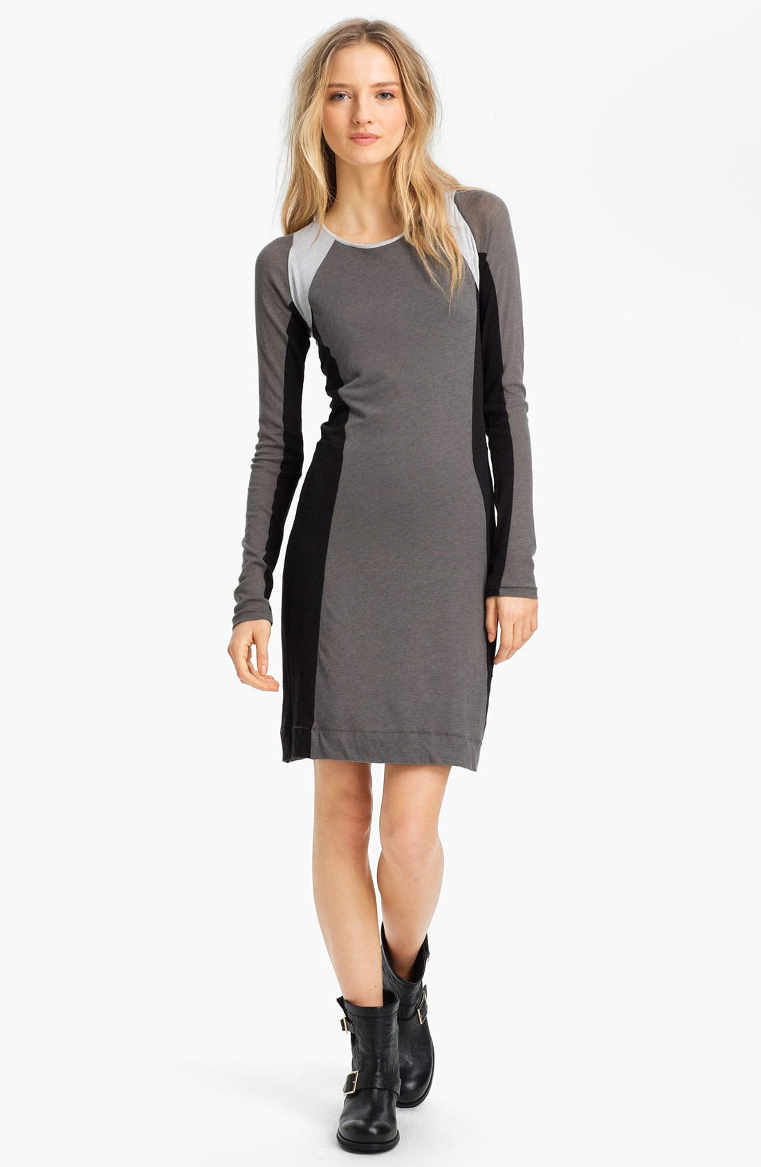 Main Image - rag & bone 'The Moto' Contrast Panel Dress
