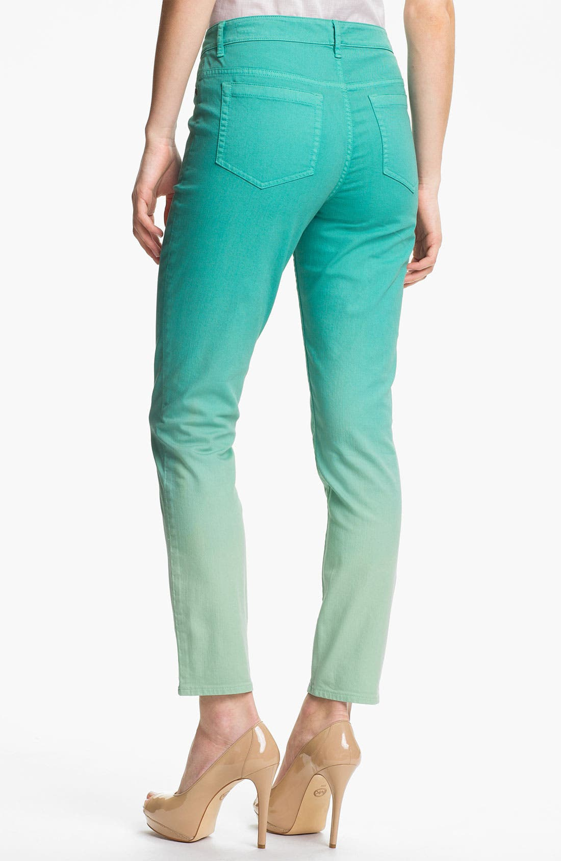 Alternate Image 2  - Two by Vince Camuto Dip Dye Straight Leg Jeans