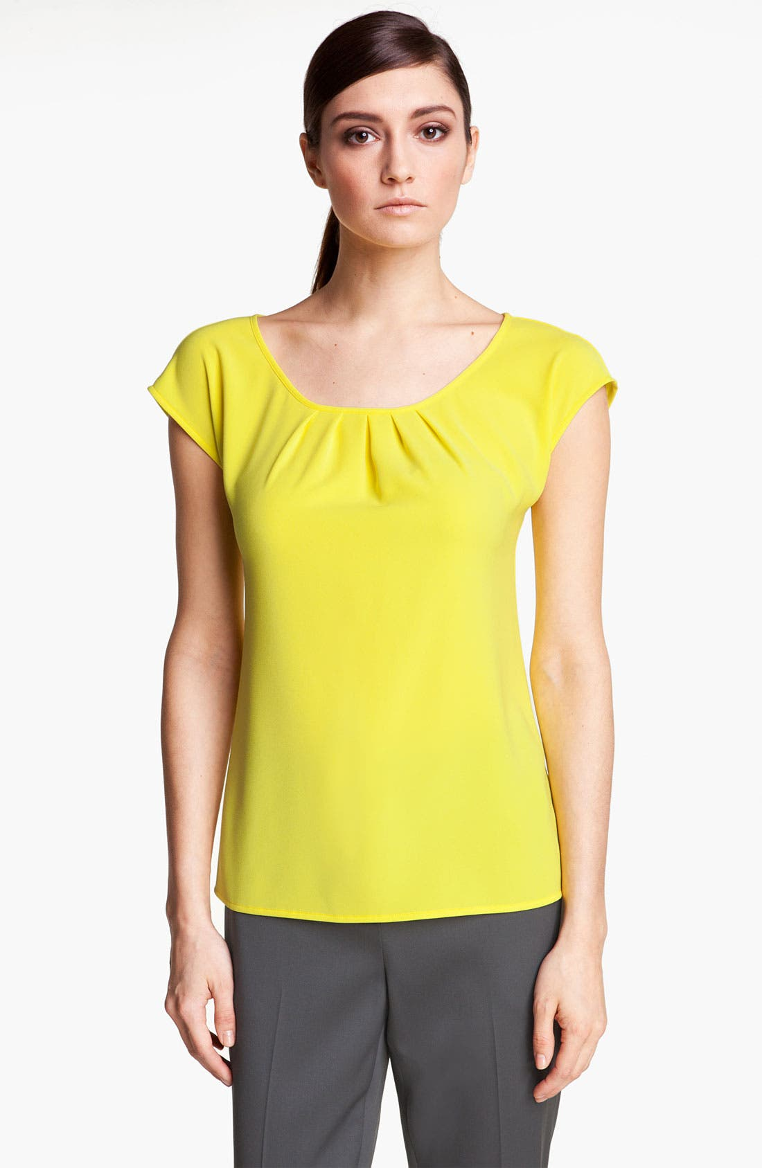 Alternate Image 1 Selected - St. John Collection Crepe Top