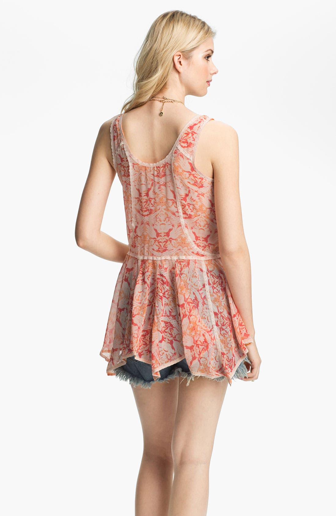 Alternate Image 2  - Free People Print Chiffon Peplum Tunic