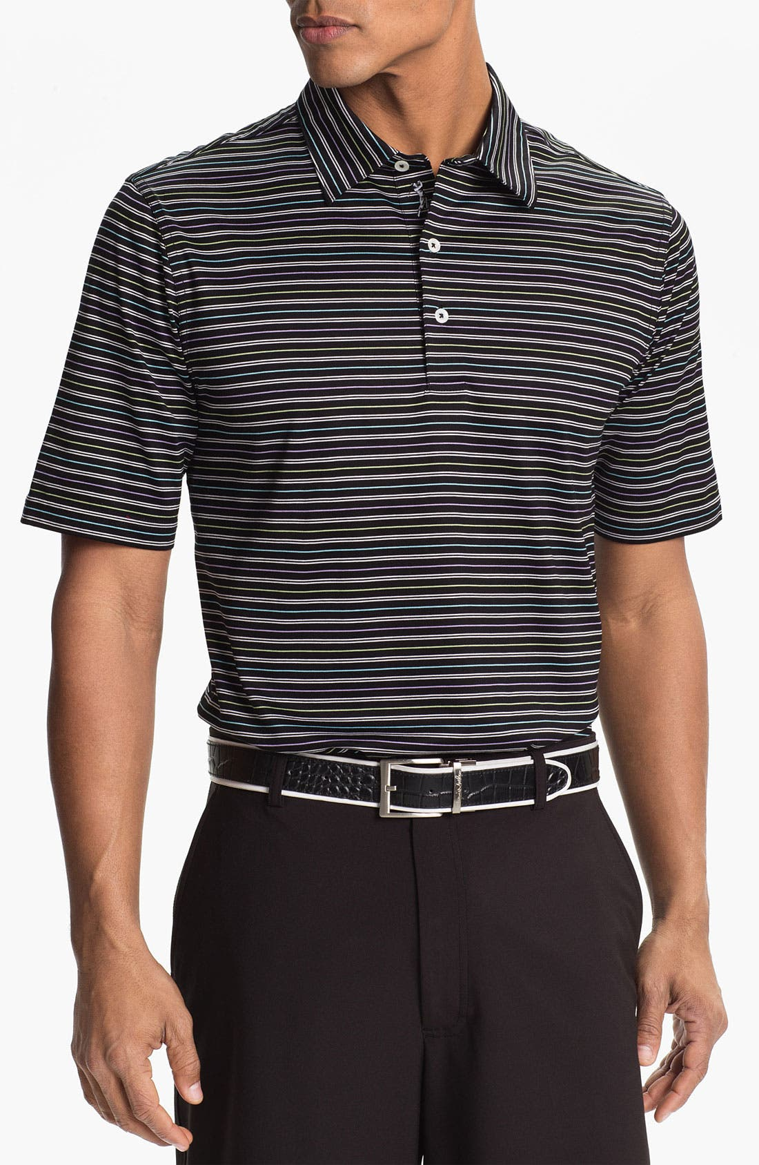Main Image - Bobby Jones 'Tour' Stripe Polo