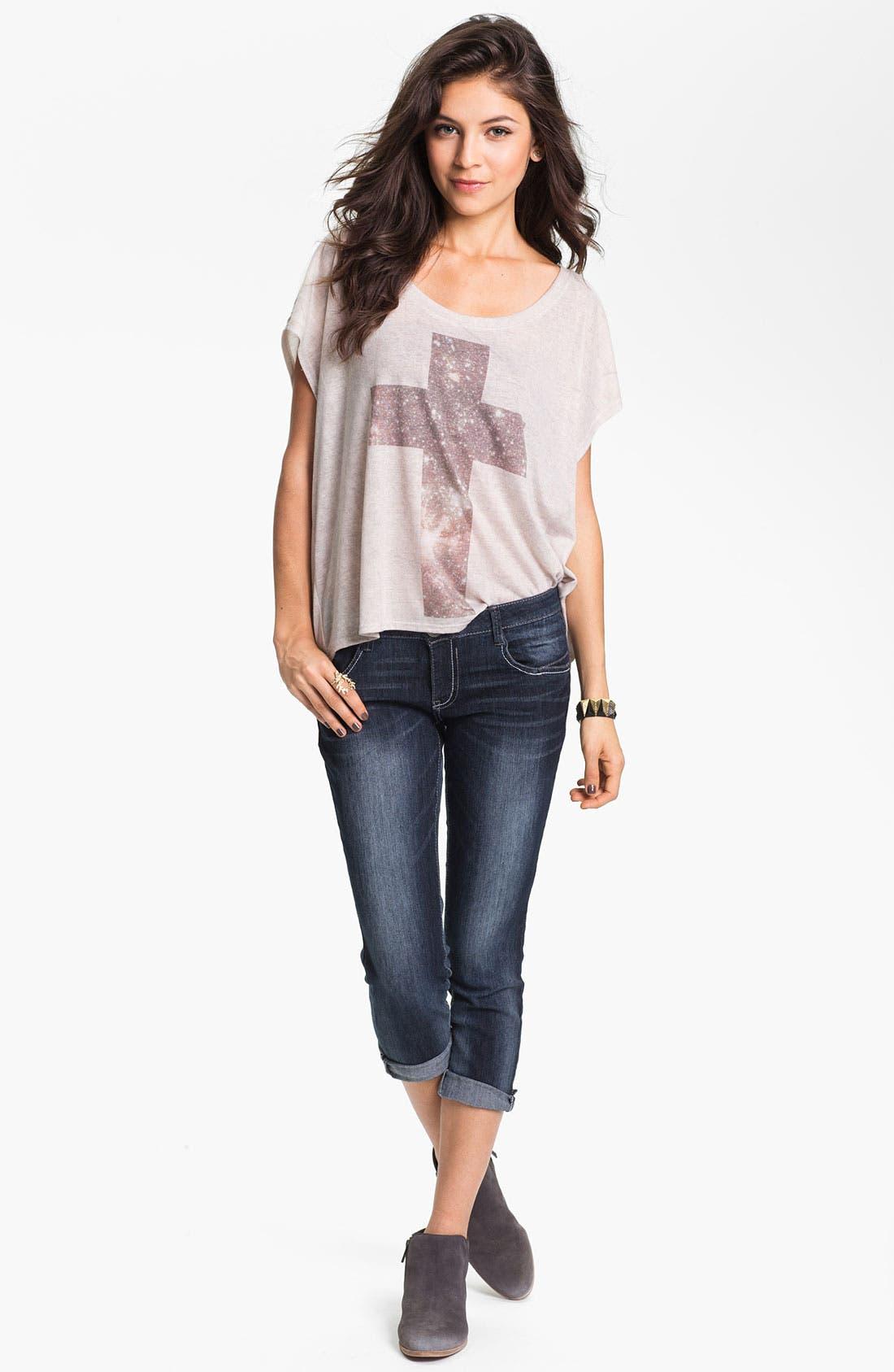 Alternate Image 2  - Jolt Skinny Crop Jeans (Juniors)