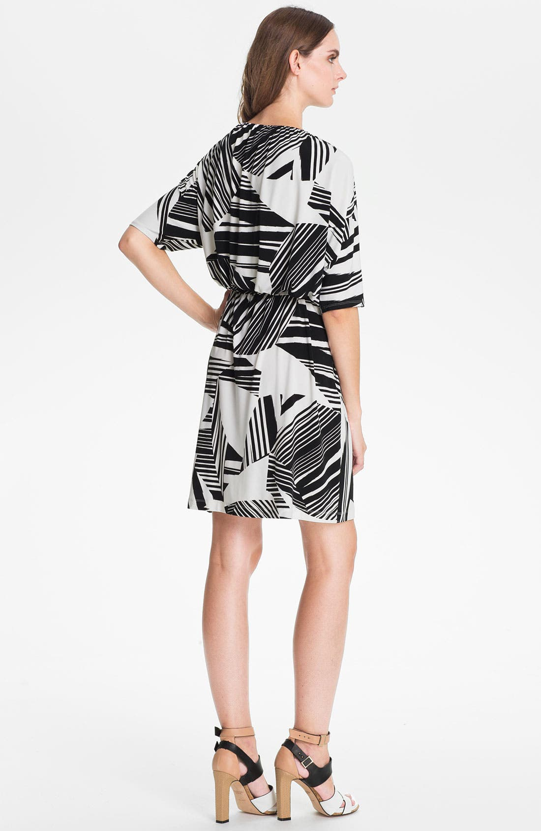 Alternate Image 2  - Suzi Chin for Maggy Boutique Print Blouson Dress