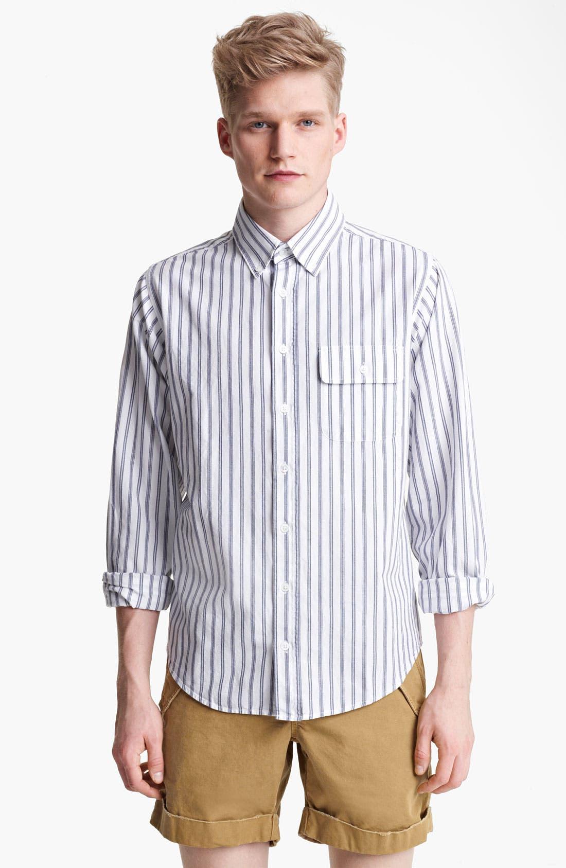Alternate Image 1 Selected - Gant by Michael Bastian Ticking Stripe Woven Shirt