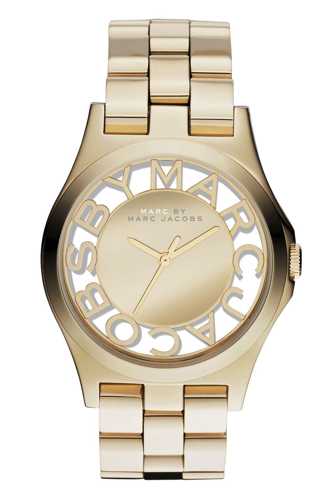 Main Image - MARC JACOBS 'Henry Skeleton' Bracelet Watch, 40mm