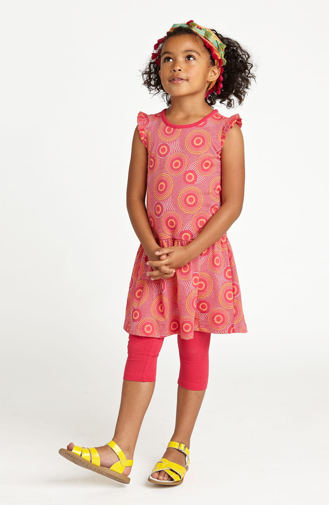 Alternate Image 2  - Tea Collection 'Elm' Flutter Dress (Little Girls & Big Girls)