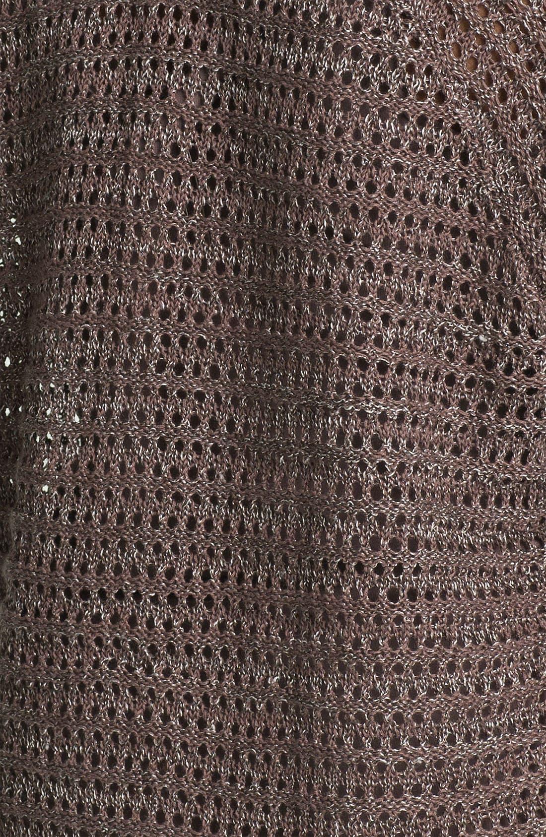 Alternate Image 3  - Amber Sun Open Stitch V-Neck Sweater