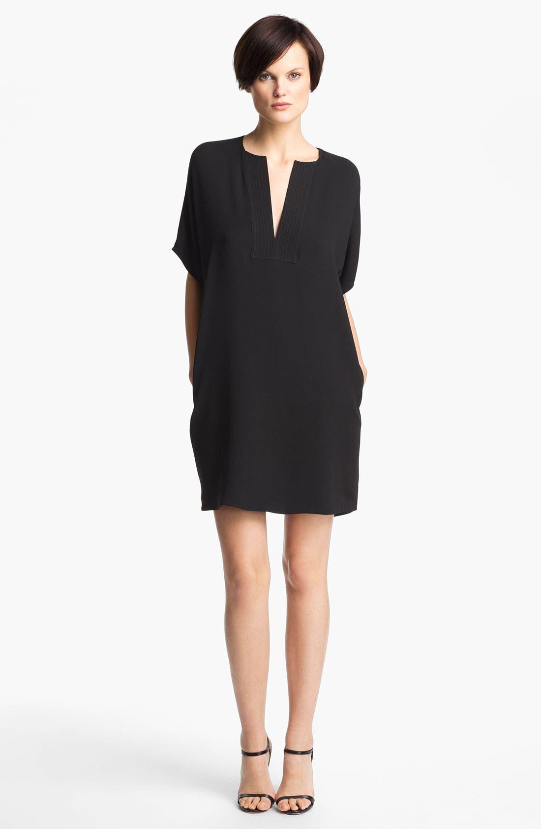 Alternate Image 1 Selected - Vince Trapunto Silk Shift Dress