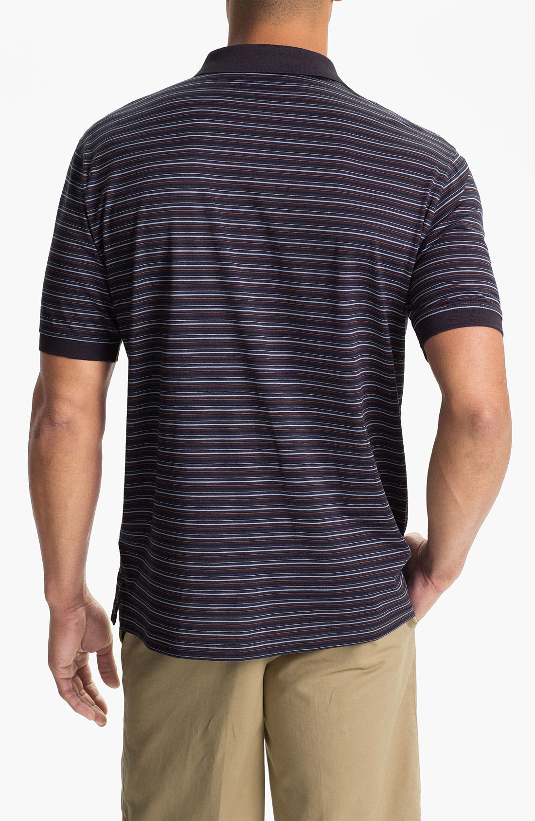 Alternate Image 2  - Cutter & Buck '70/2's Performance Andrew Stripe' Regular Fit Polo (Online Only)