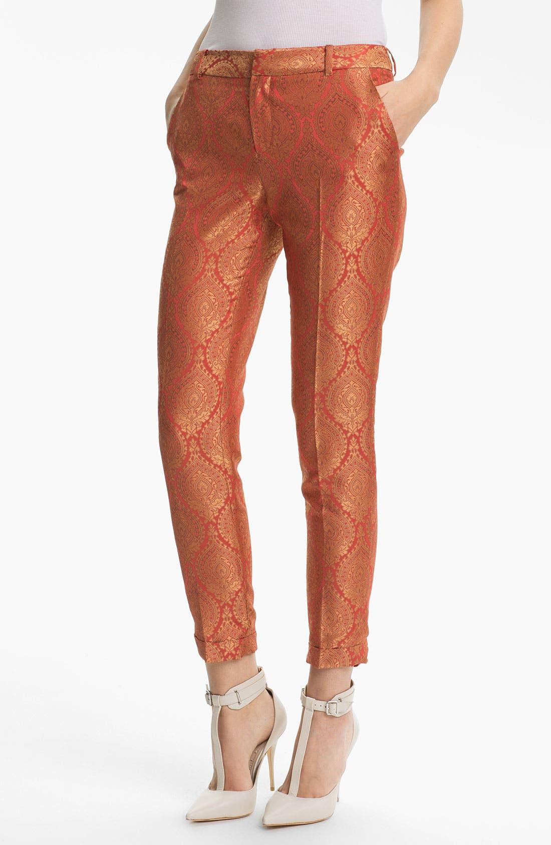 Main Image - Elizabeth and James 'Anselm' Metallic Jacquard Trousers