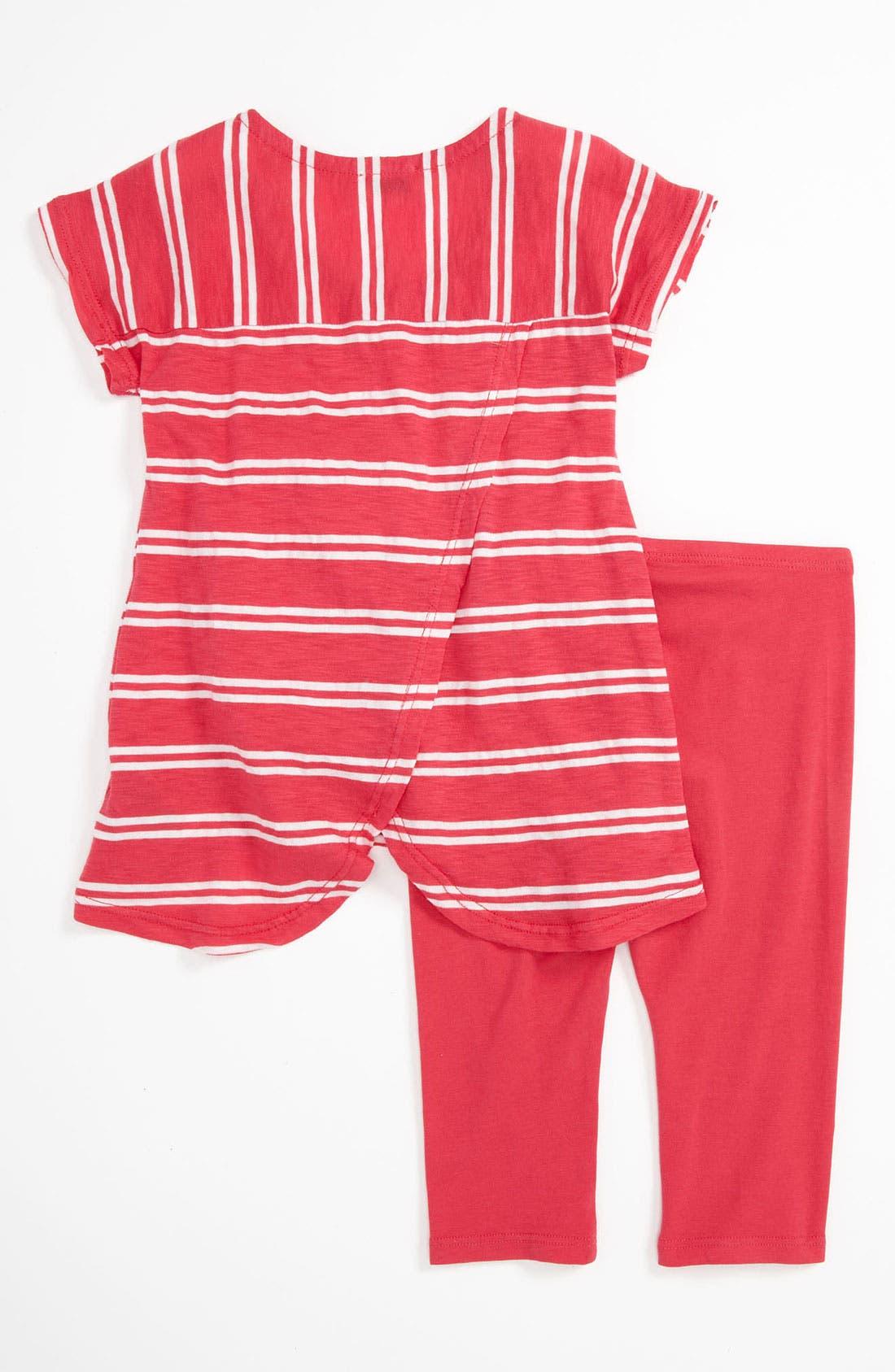Alternate Image 2  - Splendid Stripe Tunic & Leggings (Toddler)