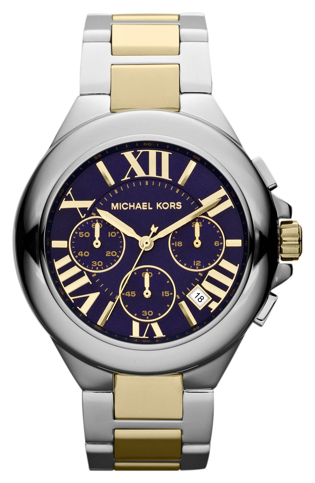 Main Image - Michael Kors 'Camille' Chronograph Bracelet Watch
