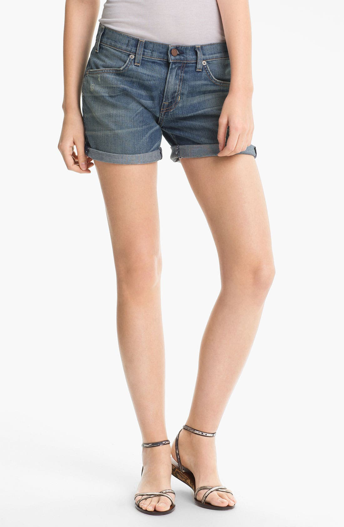 Main Image - TEXTILE Elizabeth and James 'Nell' Cuffed Denim Shorts