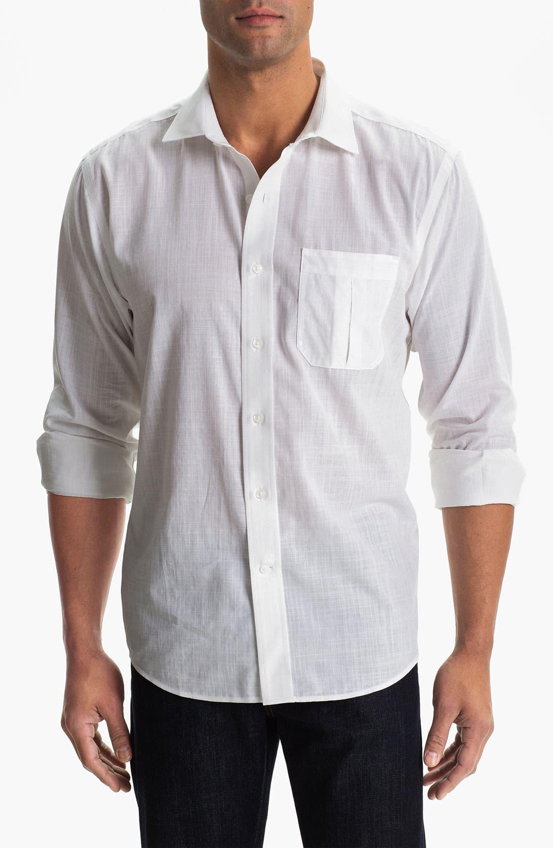 Main Image - Cutter & Buck 'Blue Ridge Solid' Regular Fit Sport Shirt (Big & Tall)