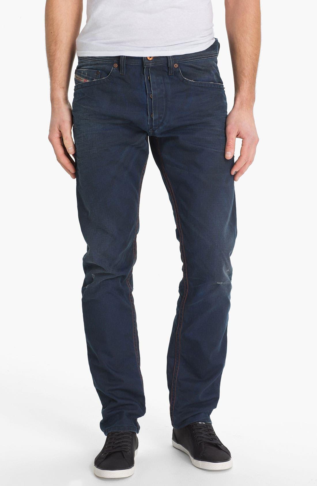 Alternate Image 2  - DIESEL® 'Braddom' Slim Tapered Leg Jeans (0811K)