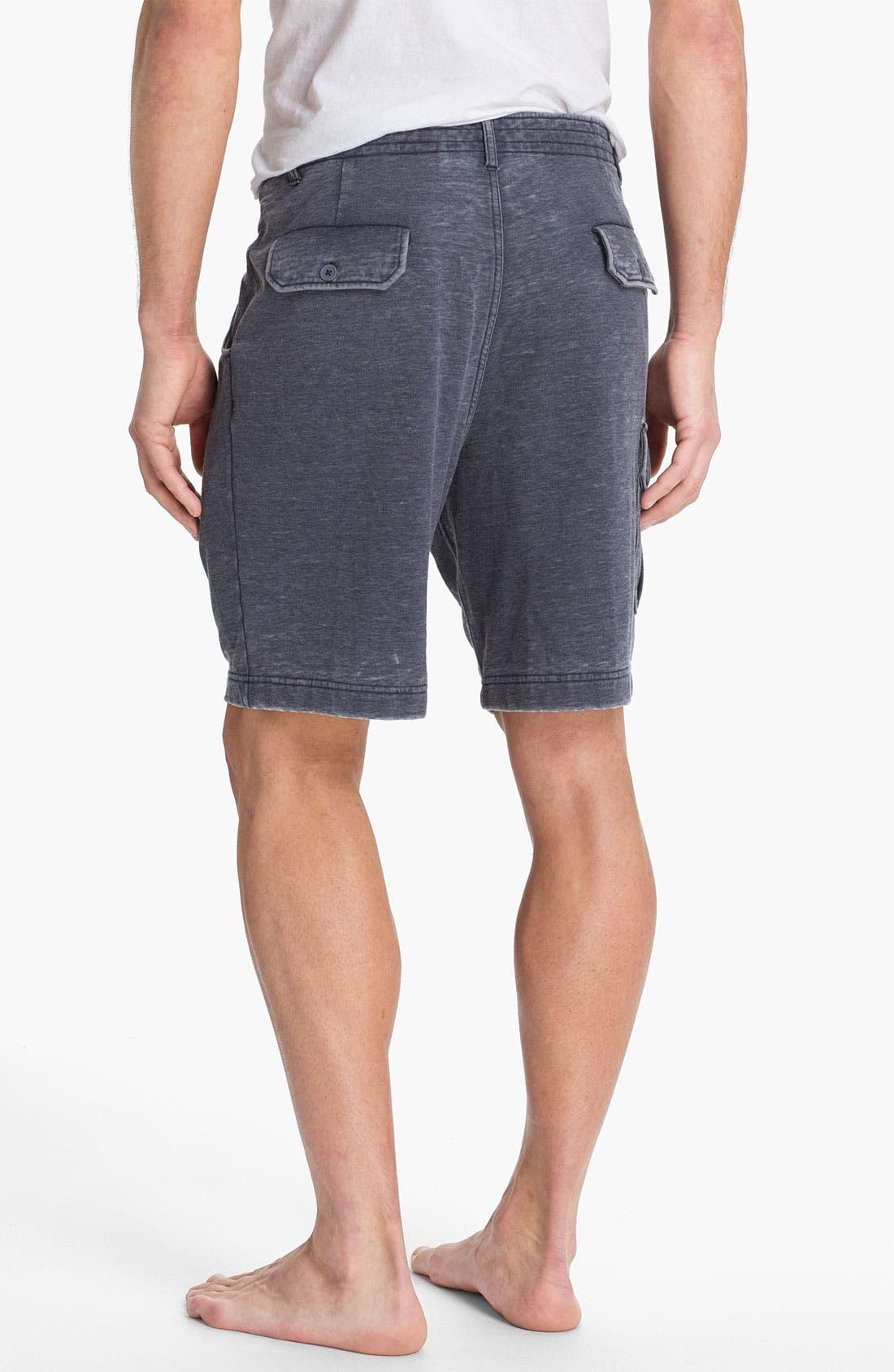 Alternate Image 2  - Daniel Buchler Cotton & Polyester Overwashed Cargo Shorts