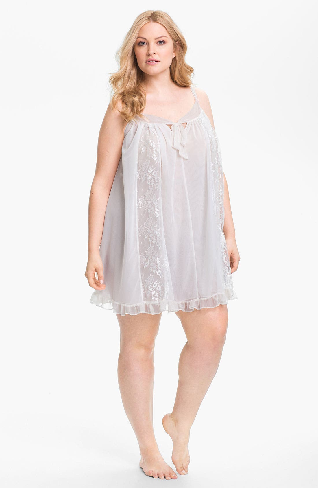 Alternate Image 1 Selected - Betsey Johnson Double Layer Tricot Slip (Plus)