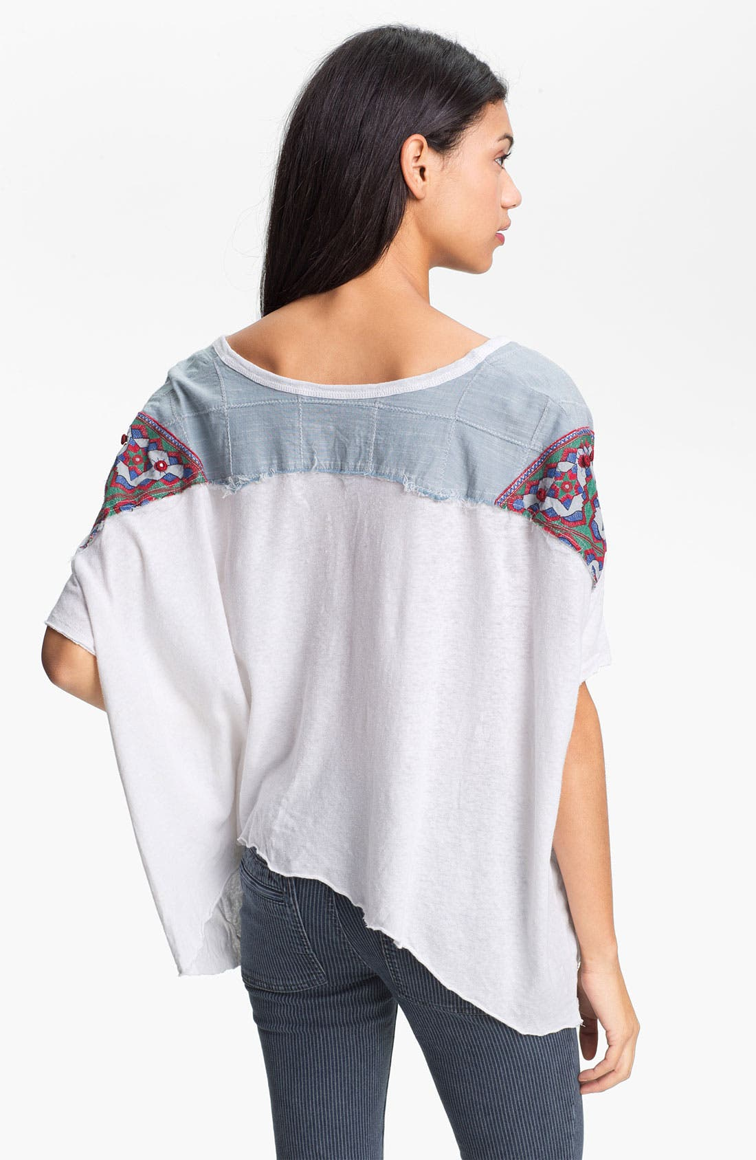 Alternate Image 2  - Free People 'Mexicali' Oversized Mixed Media Top