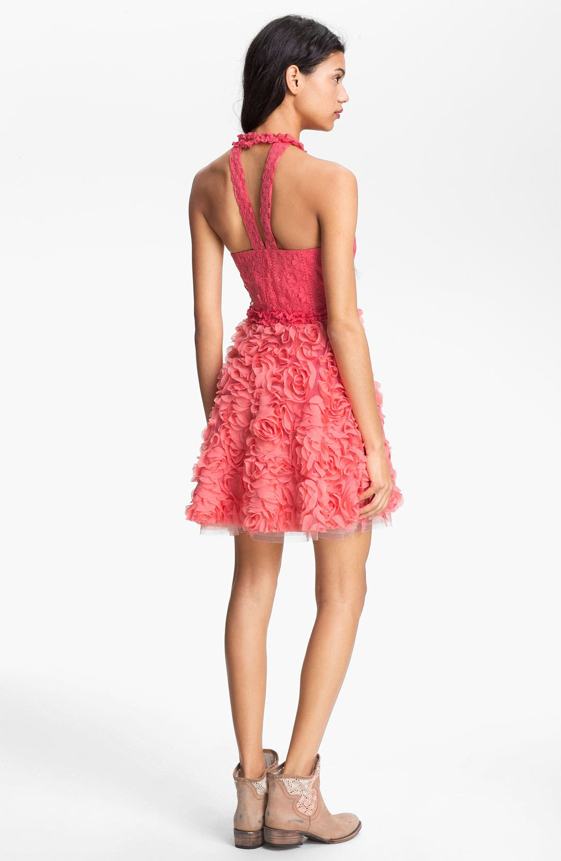 Alternate Image 2  - Free People 'Bouquet' Lace & Rosette Dress