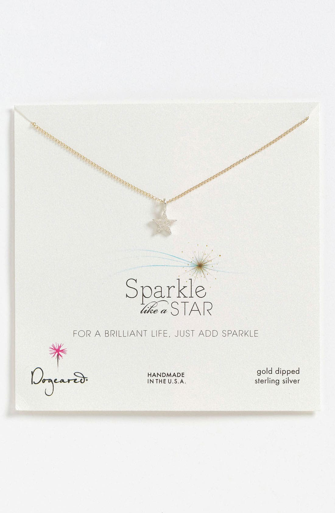 Main Image - Dogeared 'Sparkle like a Star' Star Pendant Necklace