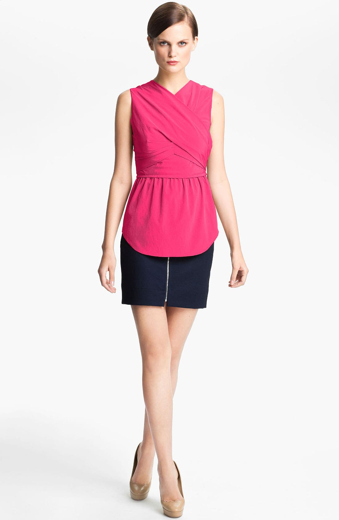 Alternate Image 2  - Carven Wrap Front Peplum Top