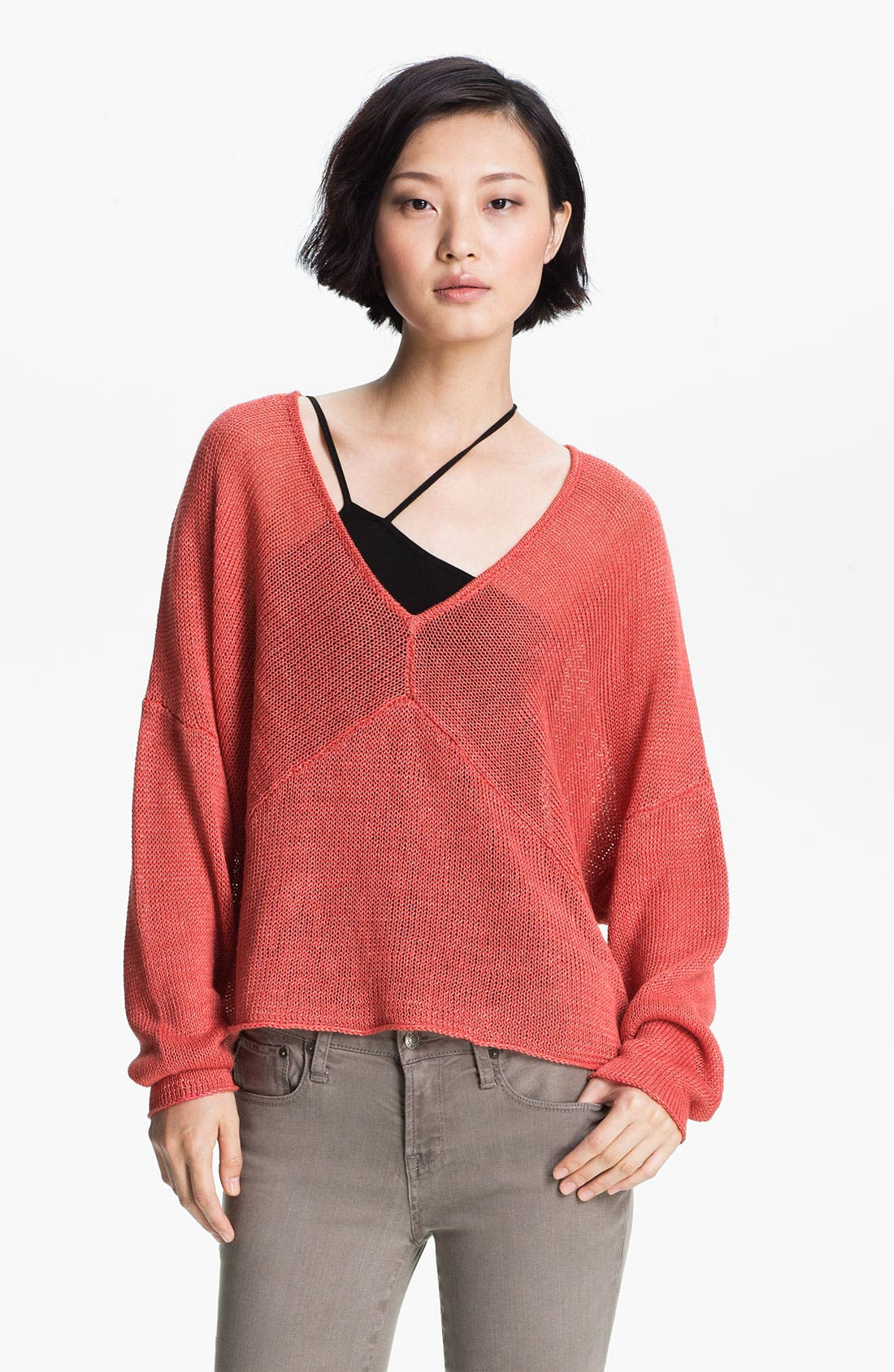 Alternate Image 1 Selected - HELMUT Helmut Lang Linen Sweater
