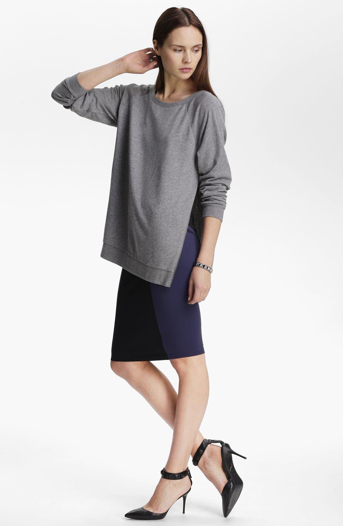 Alternate Image 3  - Leith Zip Shoulder Sweatshirt