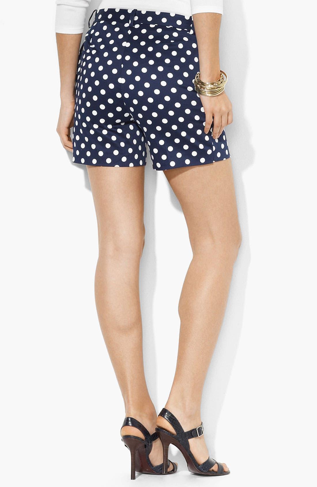 Alternate Image 2  - Lauren Ralph Lauren Polka Dot Shorts (Petite)
