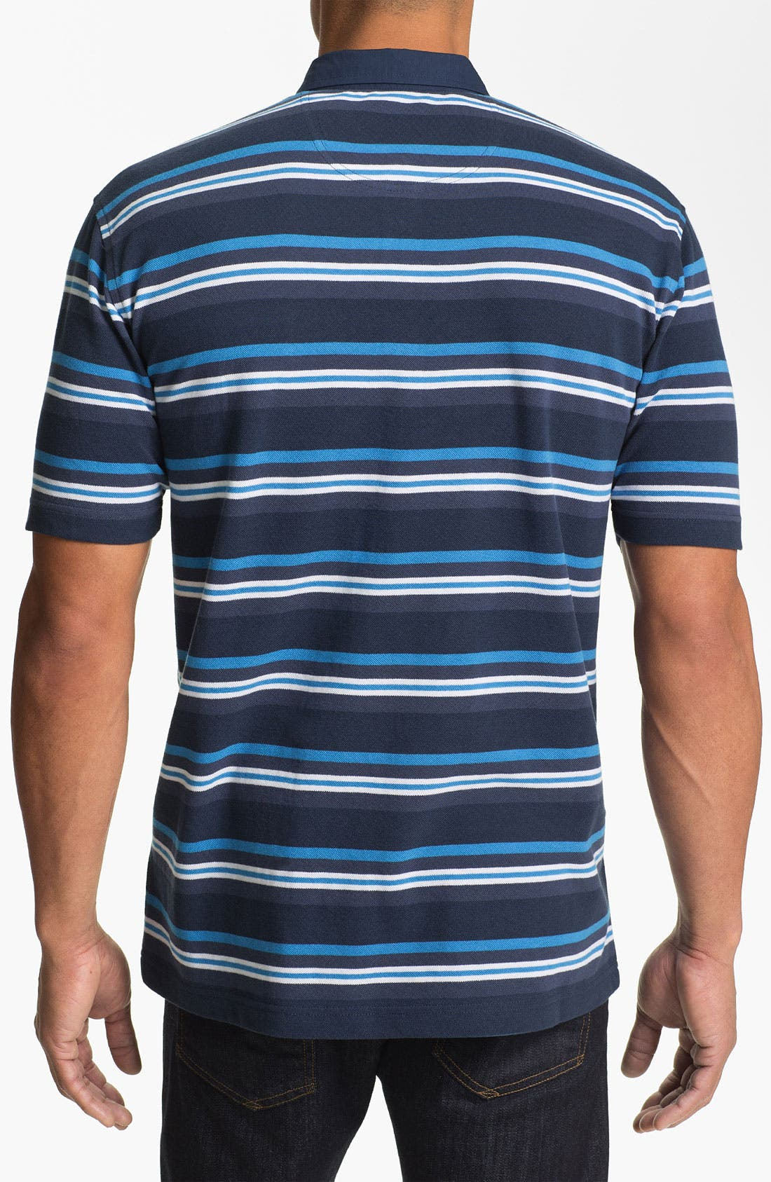 Alternate Image 2  - Cutter & Buck 'Victory Heights Stripe' Regular Fit Polo (Big & Tall)