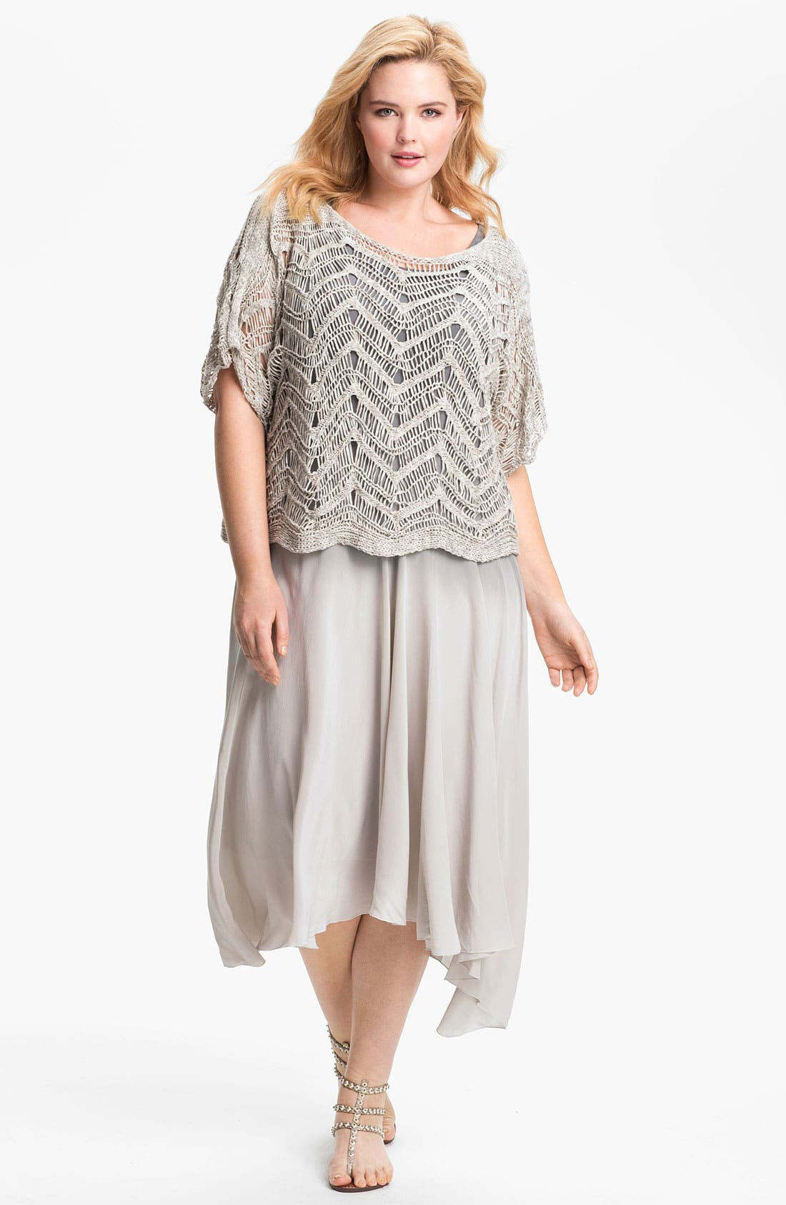 Alternate Image 4  - Eileen Fisher Ombré Silk Dress (Plus Size)