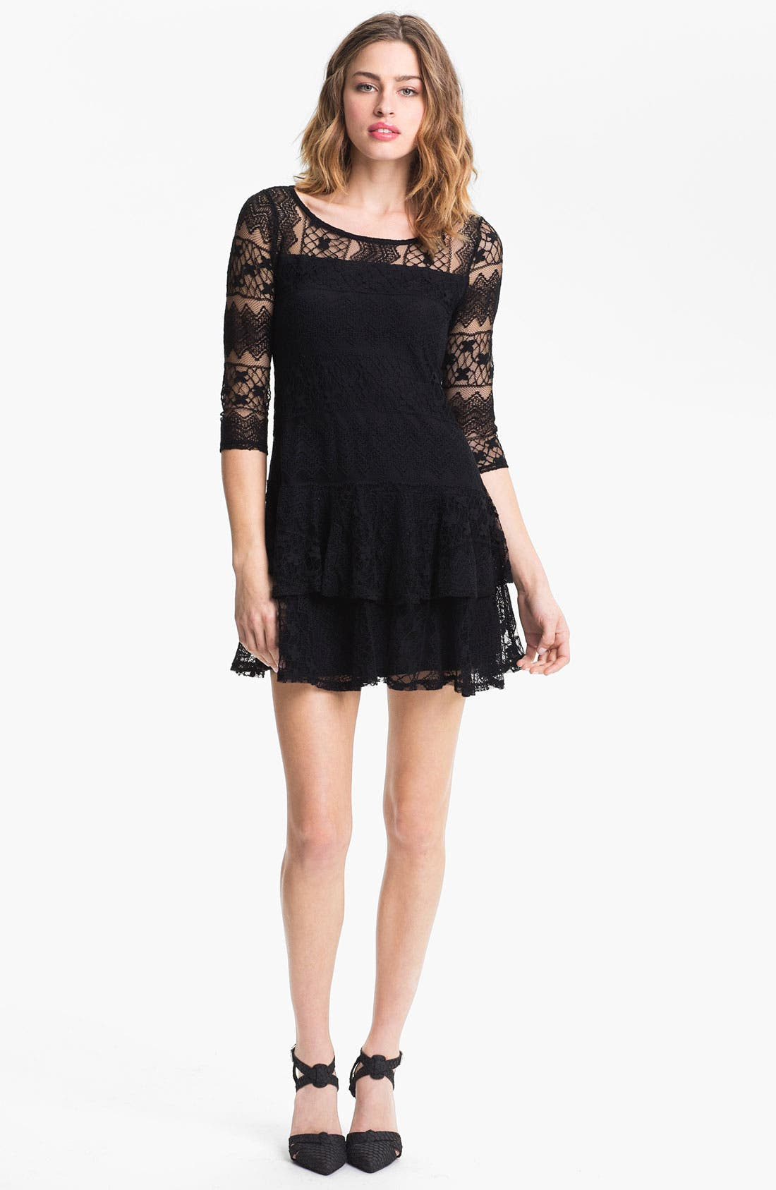Alternate Image 1 Selected - Ella Moss Tiered Lace Dress