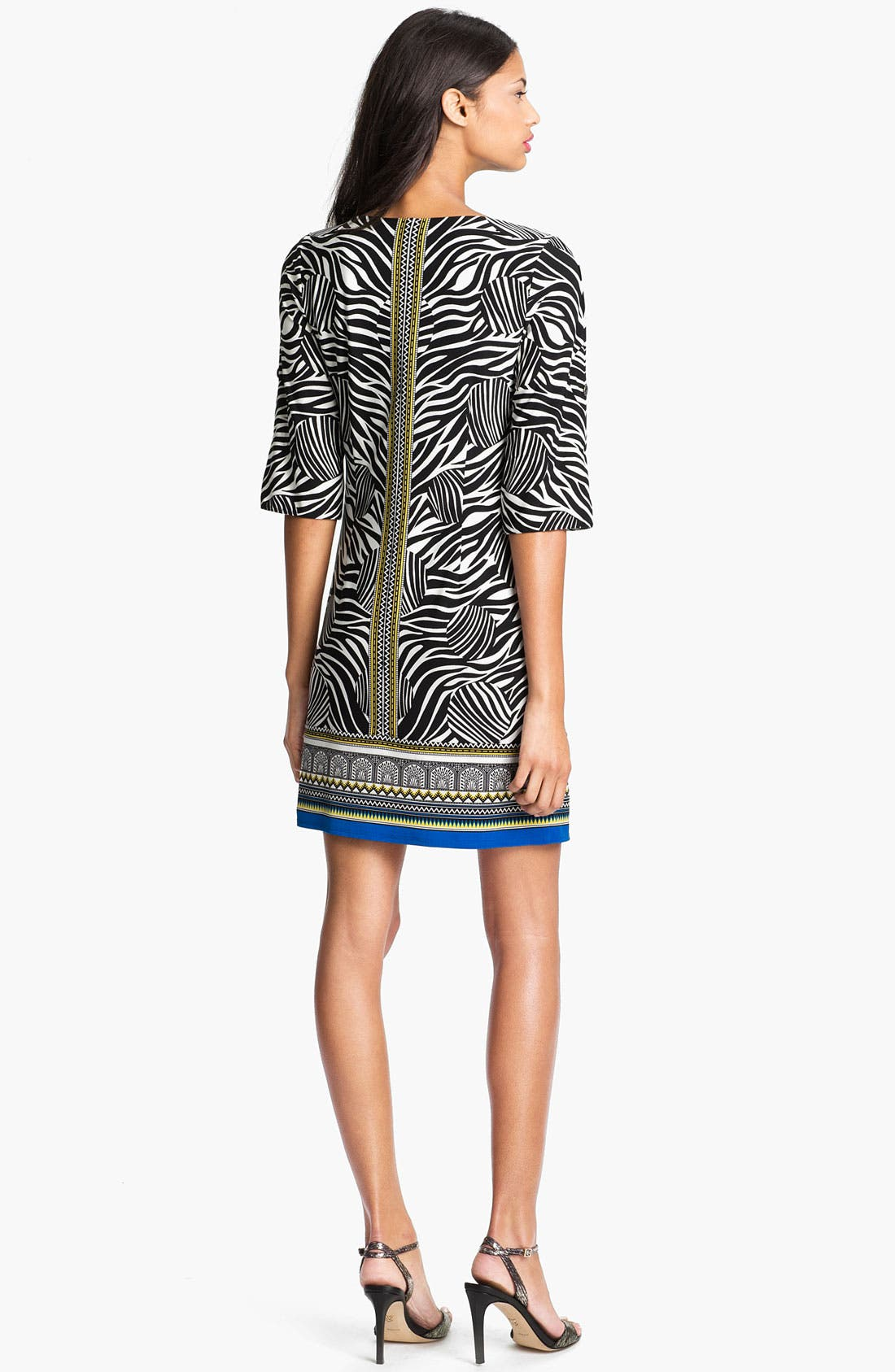Alternate Image 2  - Laundry by Shelli Segal Print Jersey Dress (Petite)
