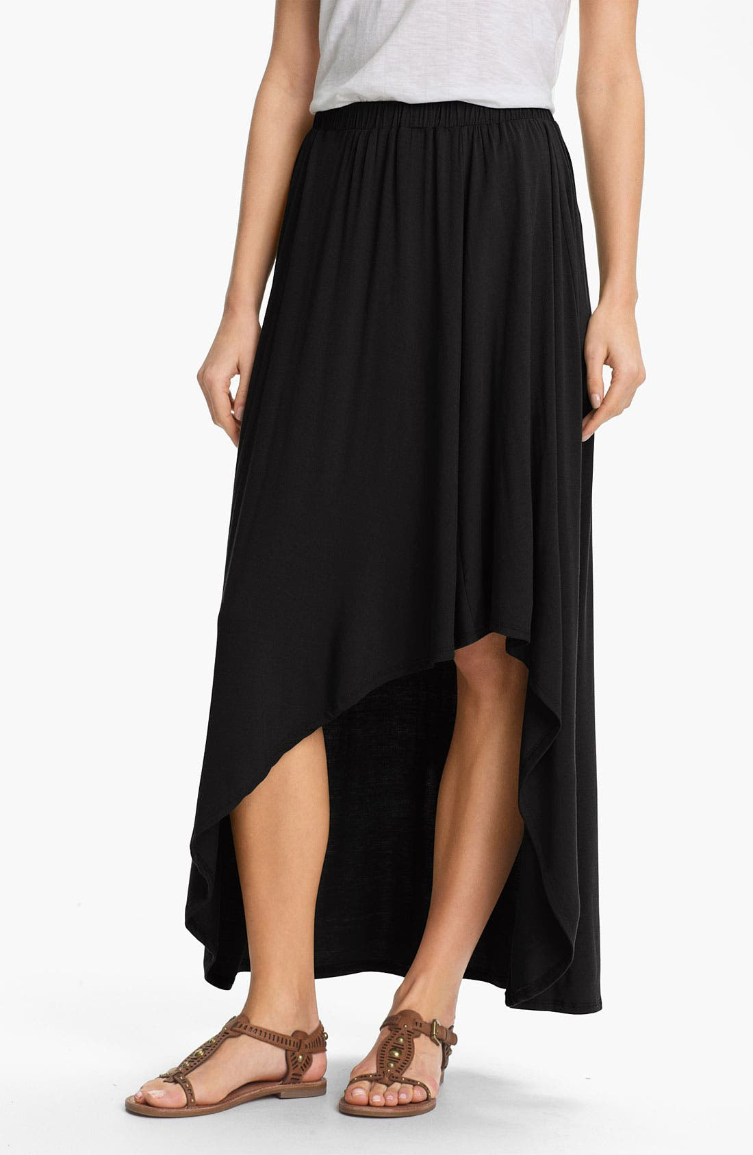 Alternate Image 1 Selected - Bobeau Asymmetrical High/Low Maxi Skirt