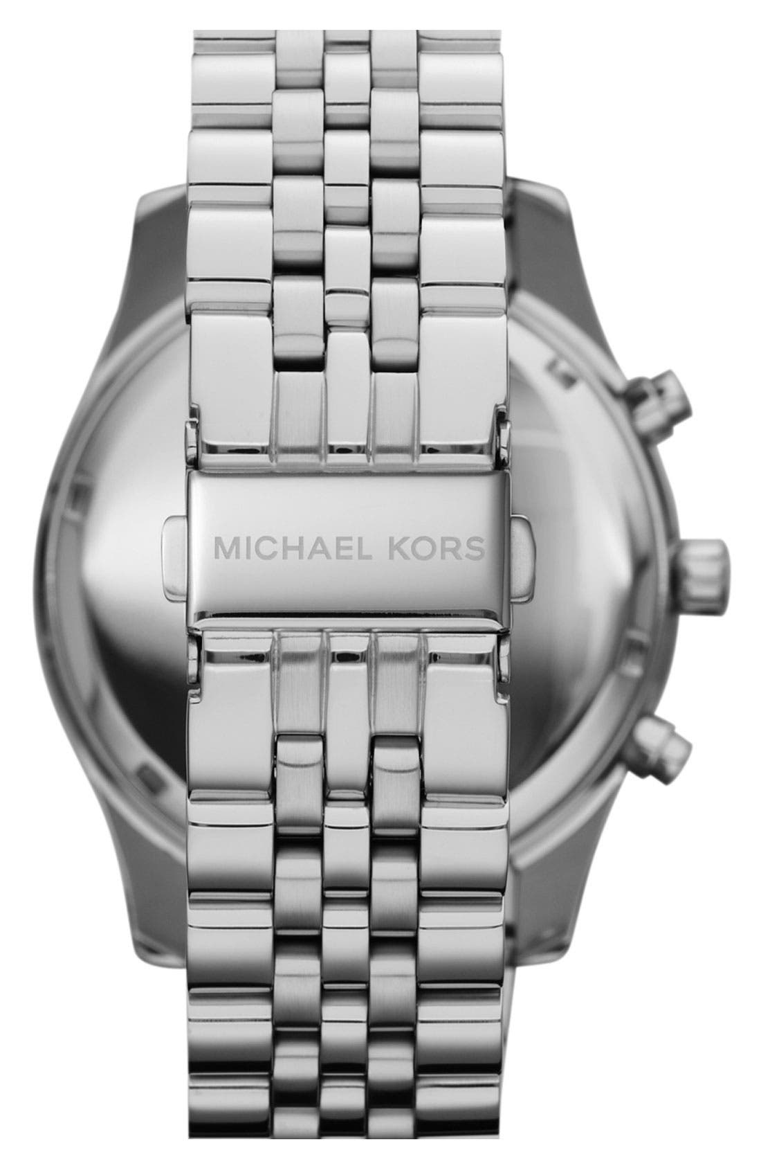 Alternate Image 2  - Michael Kors 'Large Lexington' Chronograph Bracelet Watch, 45mm
