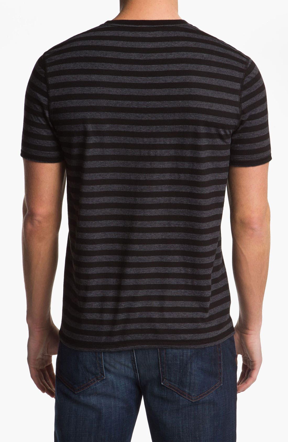 Alternate Image 2  - Lacoste Stripe V-Neck T-Shirt