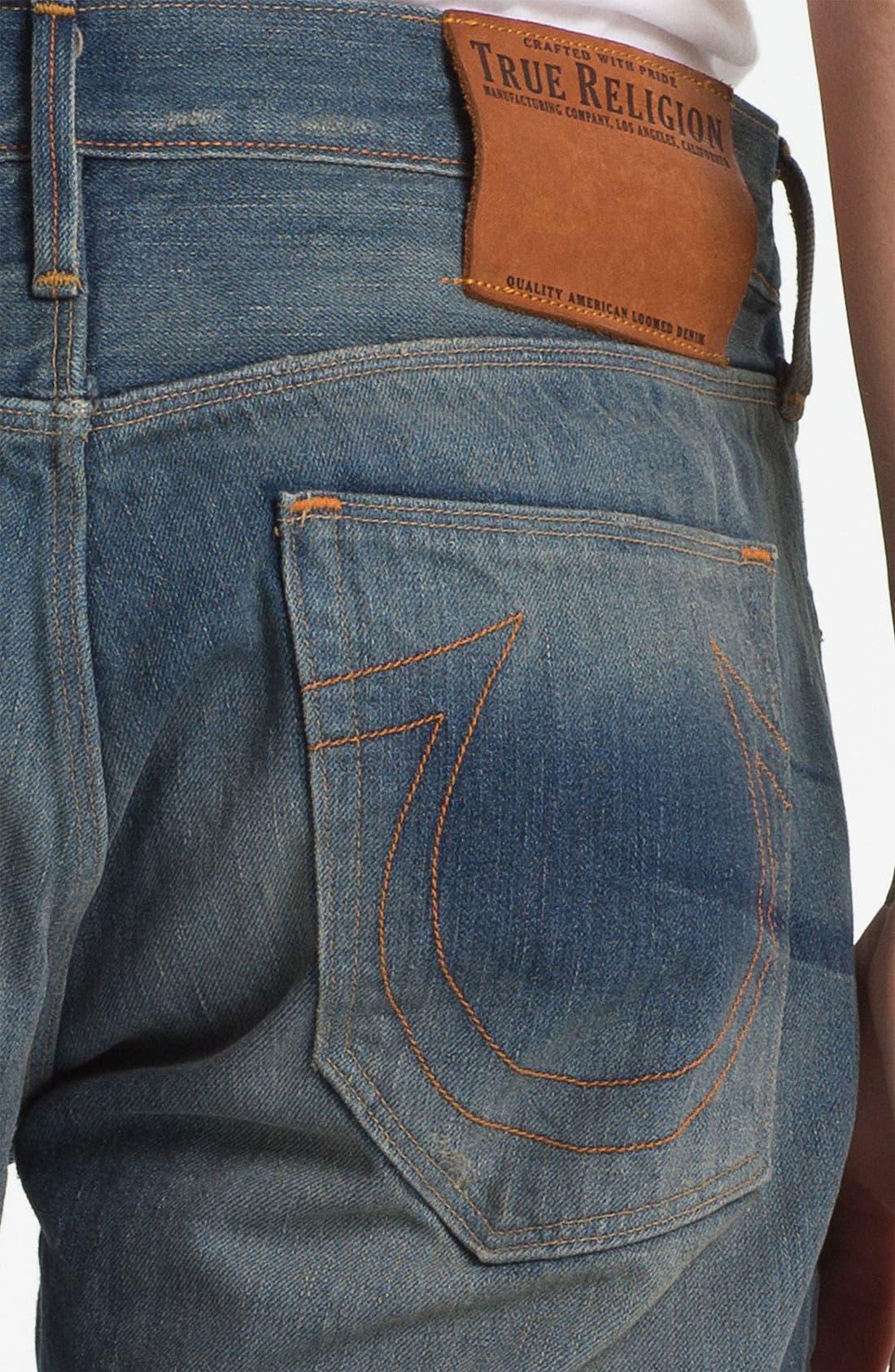 Alternate Image 4  - True Religion Brand Jeans 'Geno 50s' Slim Straight Leg Jeans (Deadwood)