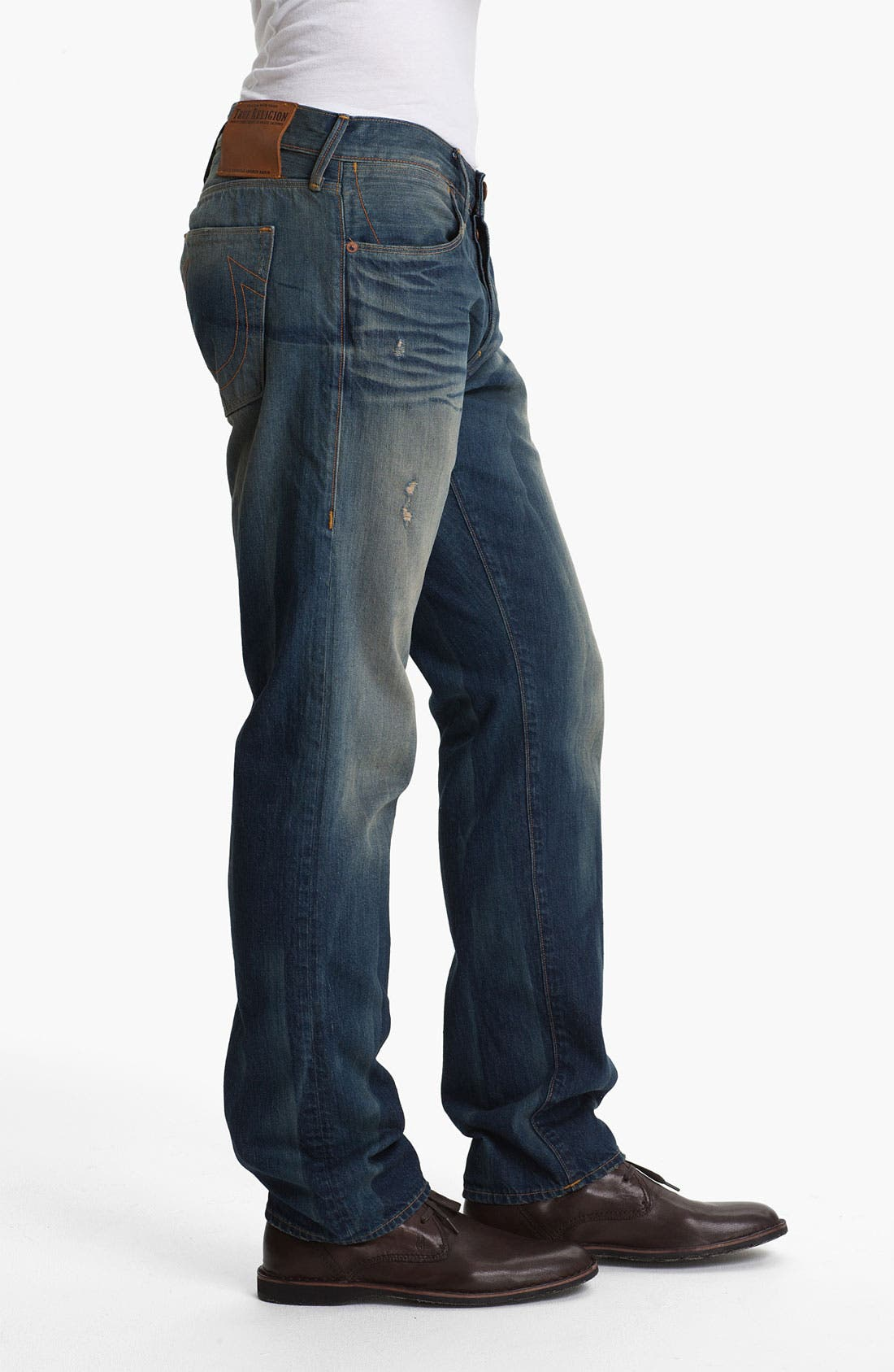 Alternate Image 3  - True Religion Brand Jeans 'Geno 50s' Slim Straight Leg Jeans (Deadwood)