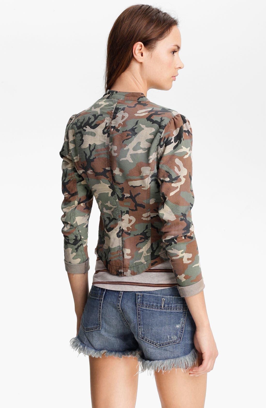 Alternate Image 2  - Free People Textured Camo Blazer