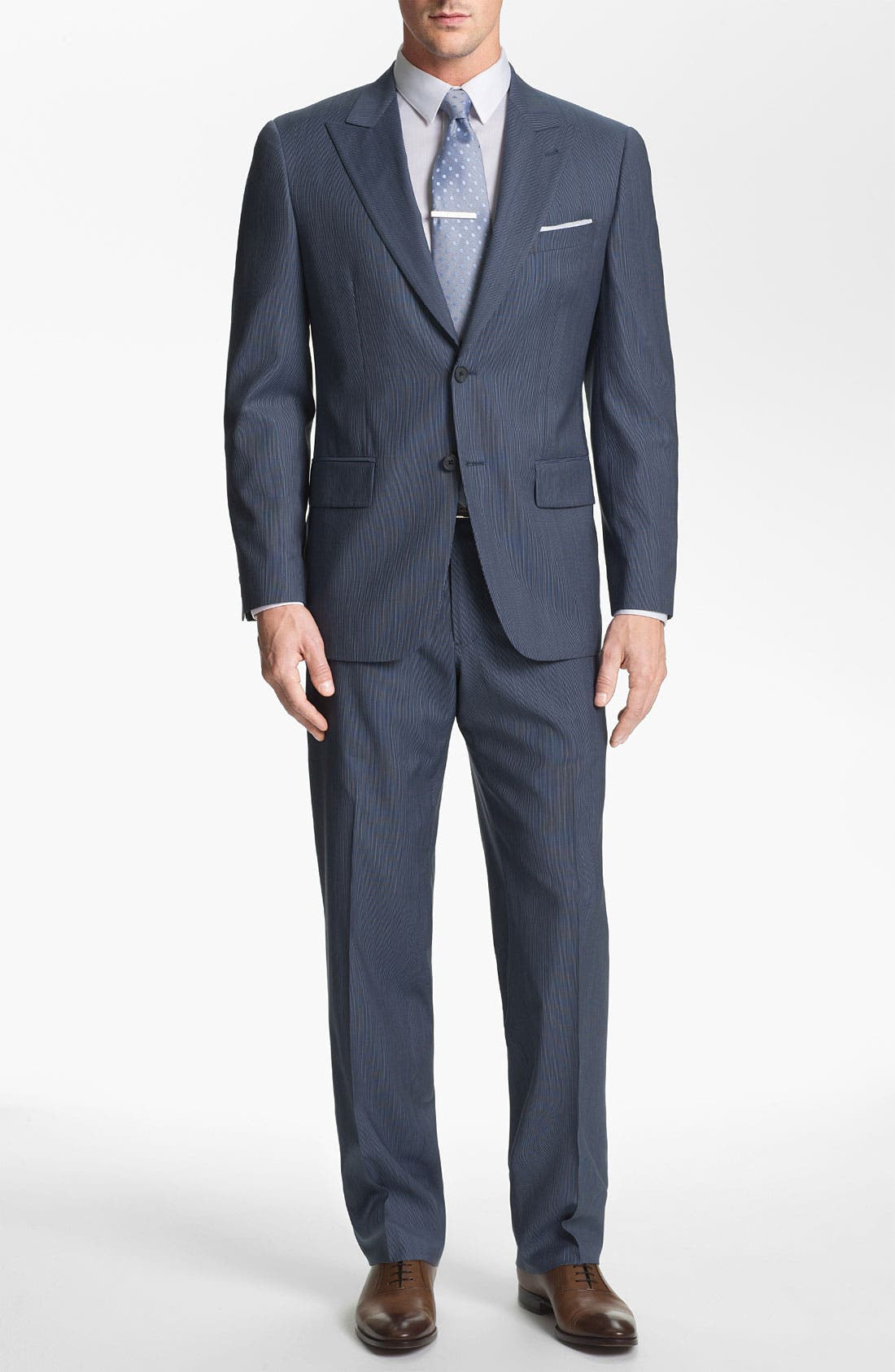 Alternate Image 2  - Joseph Abboud 'Profile' Trim Fit Stripe Wool Suit