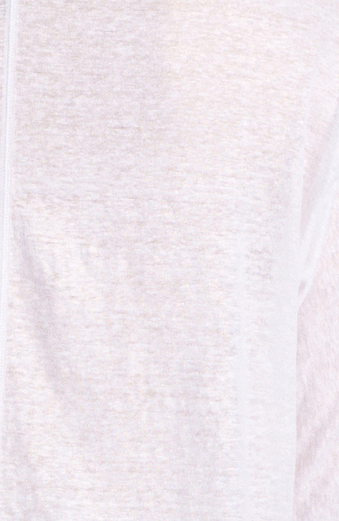 Alternate Image 3  - NYDJ Foiled Slub Linen Top