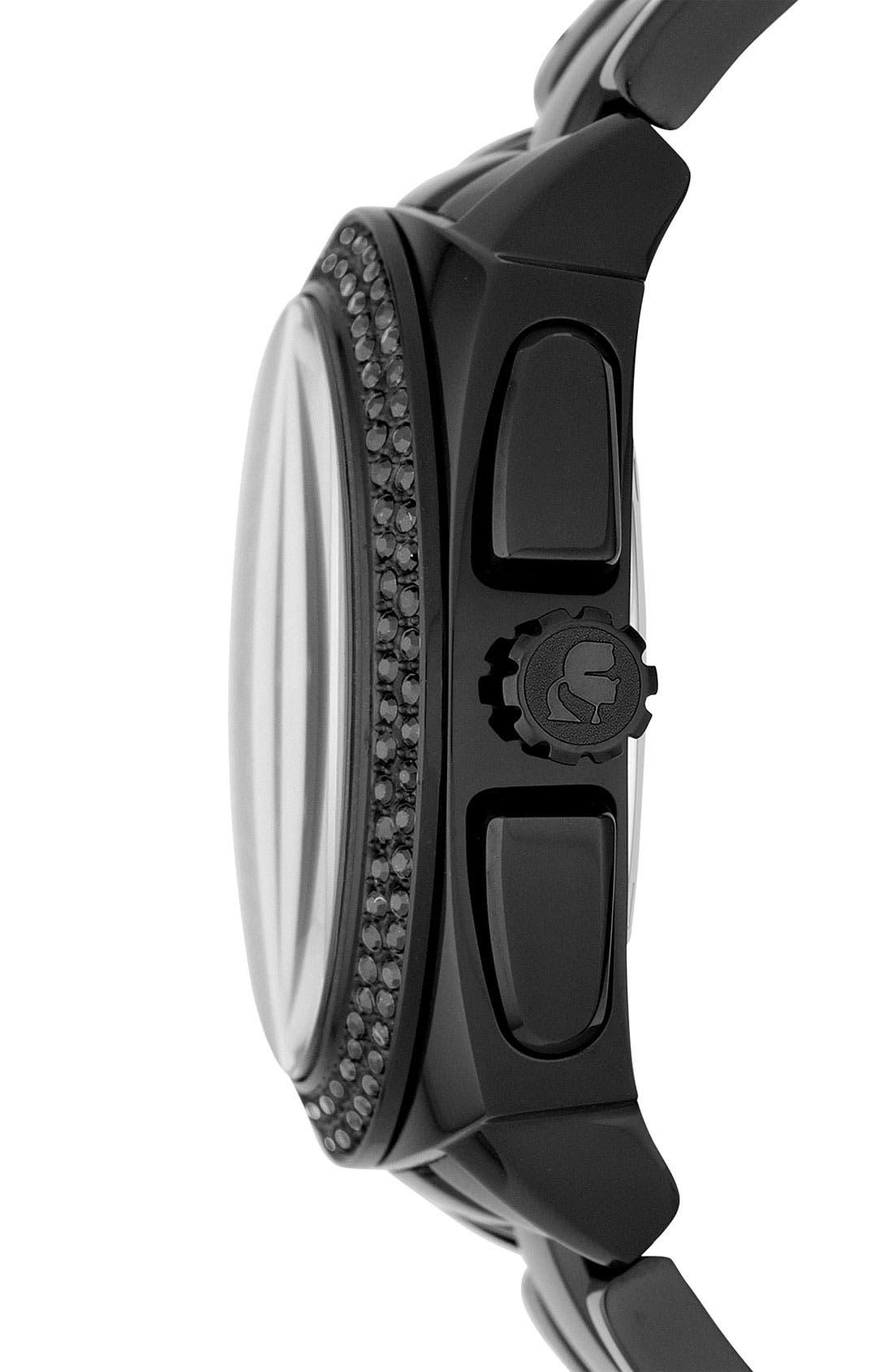 Alternate Image 2  - KARL LAGERFELD 'Keeper' Crystal Bezel Bracelet Watch, 40mm