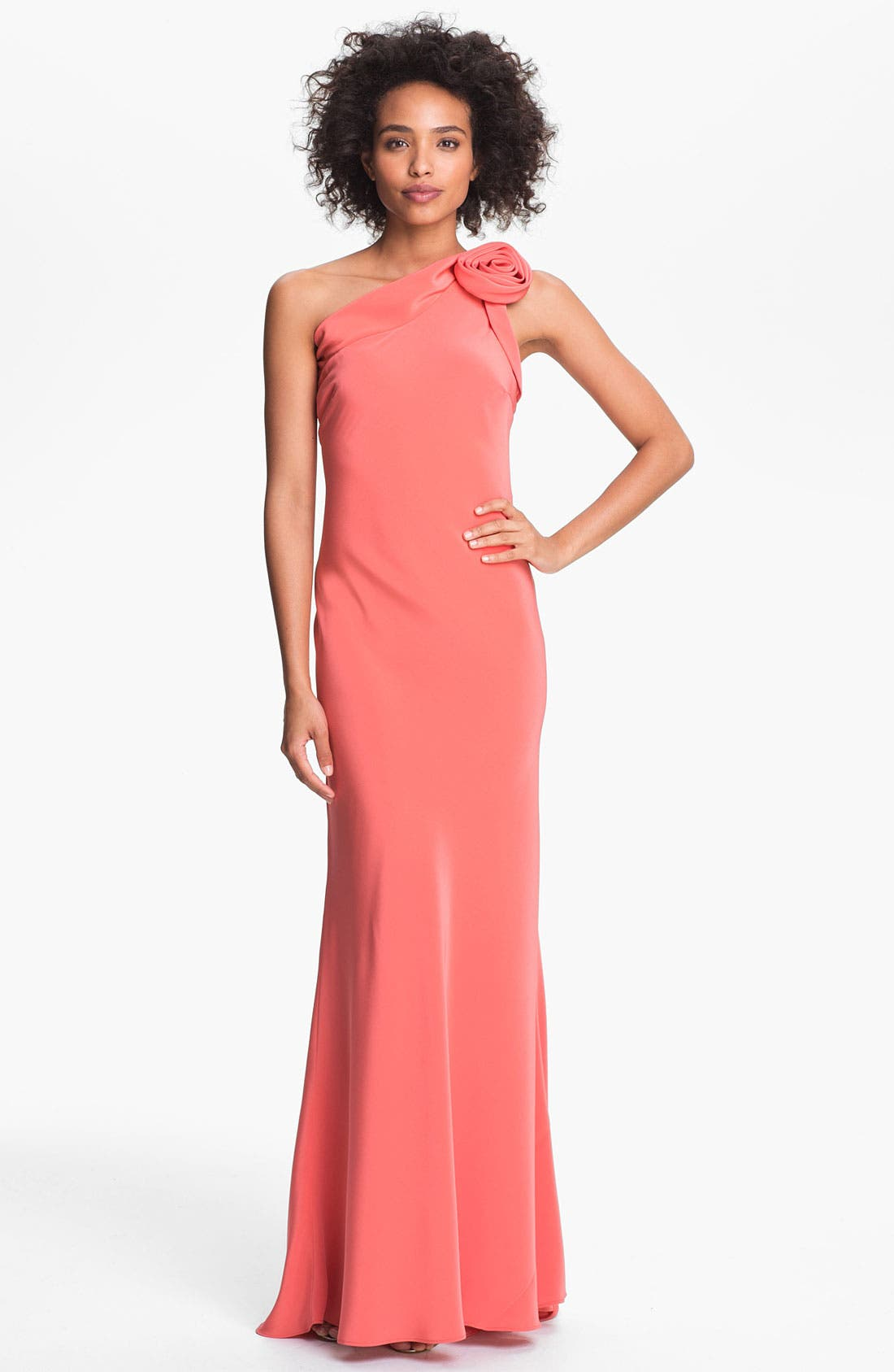 Alternate Image 1 Selected - A.B.S. by Allen Schwartz One Shoulder Gown