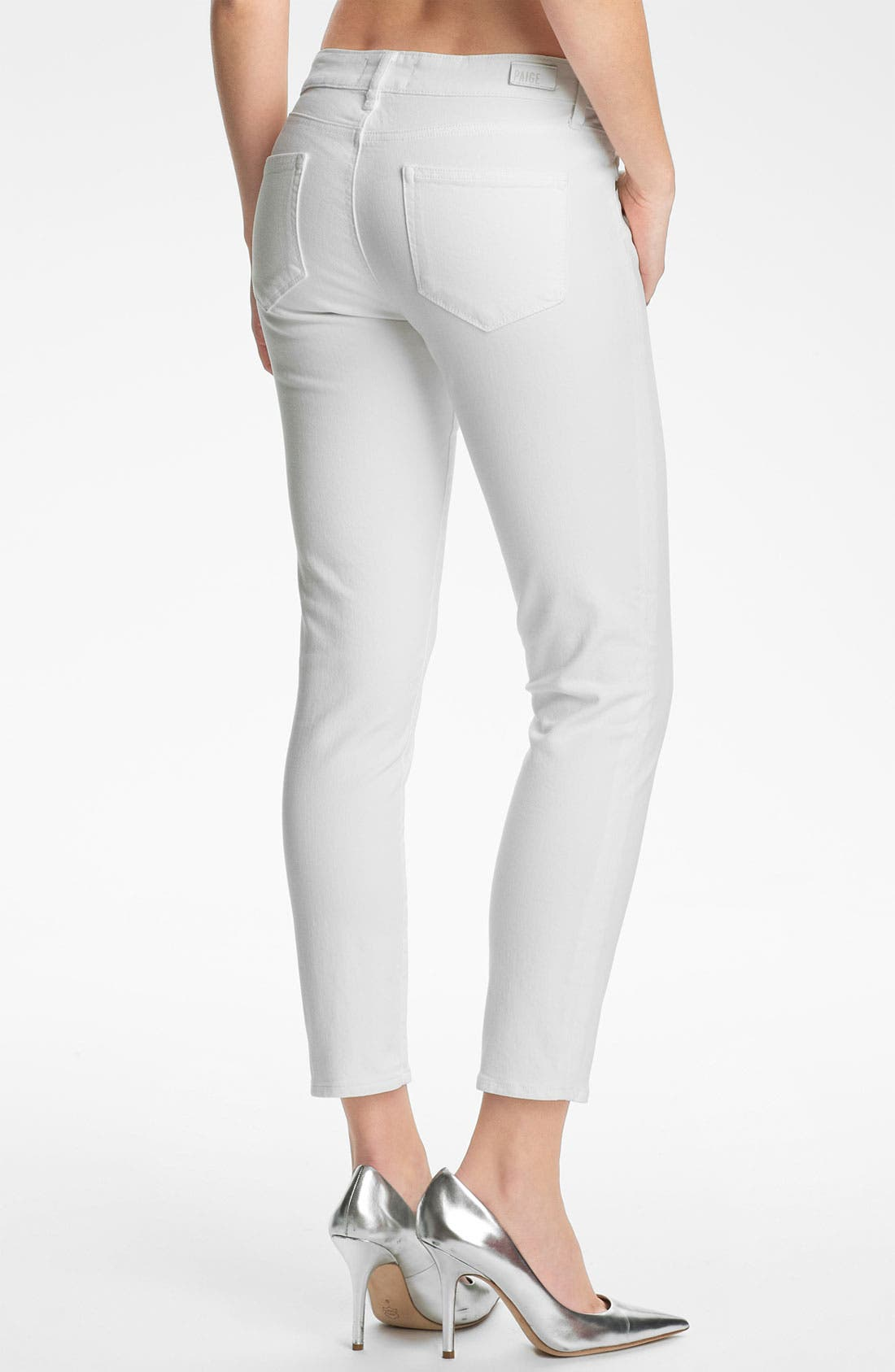 Alternate Image 2  - Paige Denim 'Kylie' Crop Skinny Jeans (Optic White)