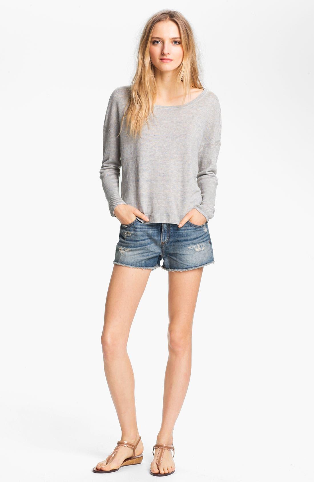 Alternate Image 1 Selected - rag & bone 'Sander' Linen Pullover
