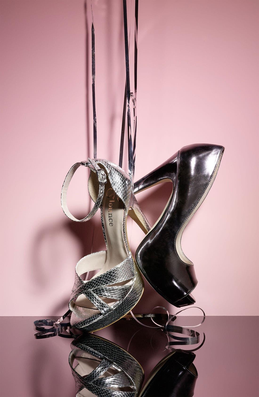 Alternate Image 5  - Flounce 'Blush' Ankle Strap Platform