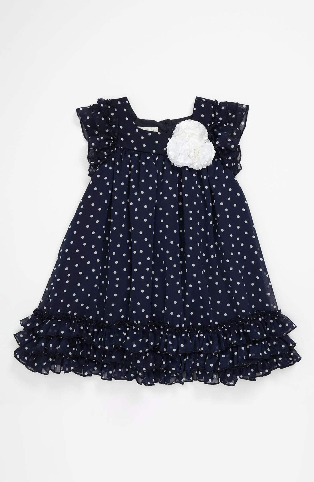 Alternate Image 1 Selected - Pippa & Julie Polka Dot Dress (Toddler)