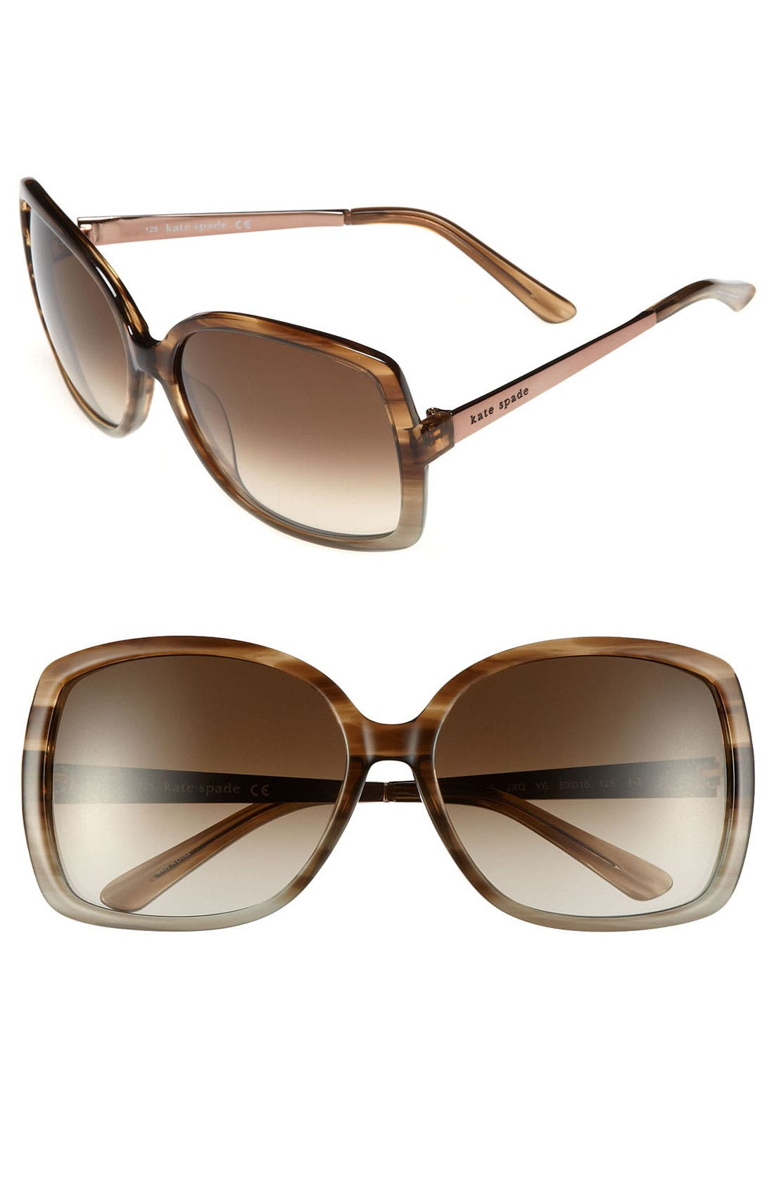 Main Image - kate spade new york 'darryl' 59mm sunglasses