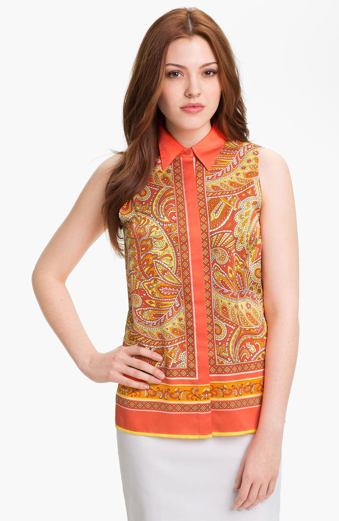 Alternate Image 1 Selected - Vince Camuto Paisley Print Blouse